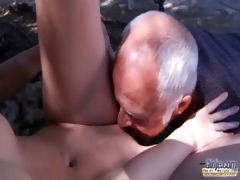oldman have to pleasures horny young landlady