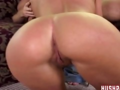 her dad almost catches her fucking a large dick!