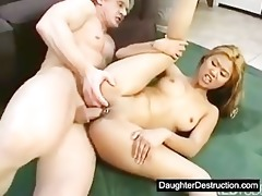 young daughter drilled hard