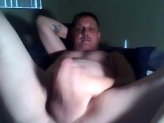 daddy home alone jerking his dong