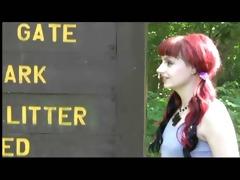 redneck spanking in the park