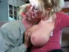 teacher with big love melons on sofa