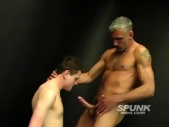 concupiscent dad stuffing his huge schlong down