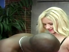 blonde teen lives out black daddies fantasy