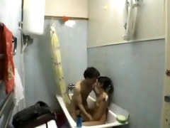 amateur sis and not her brother in bathroom