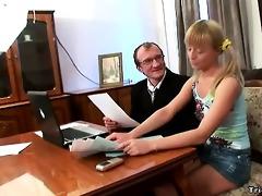 horny schoolgirl fucks her teacher to get an a.