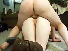 daddy bonks her ass