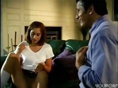 daughter enticed divorced old daddy