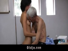 insane old guy fucks anal slutty brunette legal