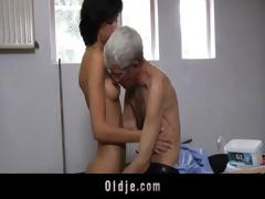 insane old guy fucks anal slutty brunette legal