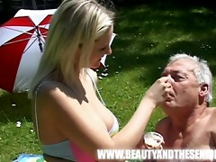 juvenile busty girl fucked by an old bulky boy
