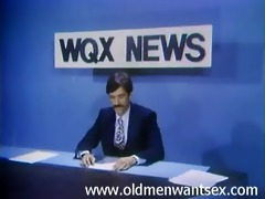 anchorman gets his dick sucked under the desk
