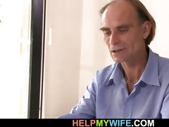 old hubby allows him bone his youthful wife