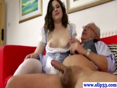 euro honey fucks and sucks his old cock