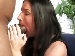 brunette hair mother receives boned by a big
