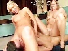 mother and stepdaughter share a hot boy and fuck