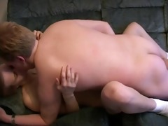 cute ginger daughter takes it up the ass !