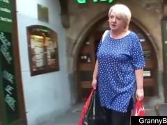 massive titted grandma pleases a stranger
