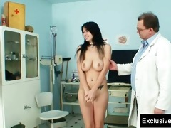 adriana visiting gyno doctor for slit gyno exam