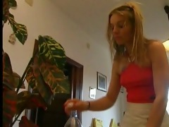 teen 49 blond teen and an aged man