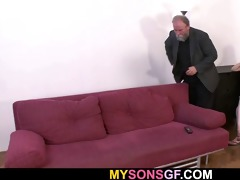 she is gets punished and screwed by geezer