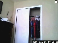 spying on sister in law changing for work