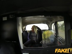 faketaxi youthful blond takes on old dong