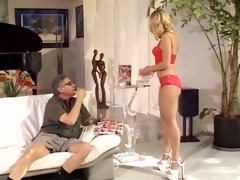 babe blond ass licking with oldman