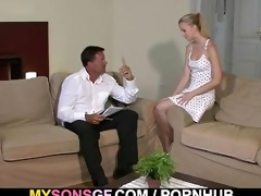 young blond cheats with her bfs dad