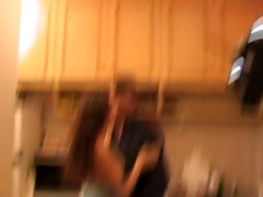 dad and not his daughter fuck in the kitchen