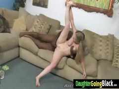 young daughter gets pounded by large darksome