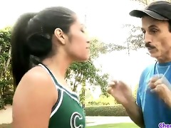wicked dark brown cheerleader ruby sucks and