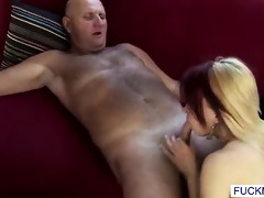 this naughty little nypho loves old cock