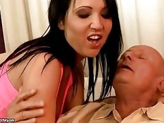 horny older man enjoys sex with sexy legal age