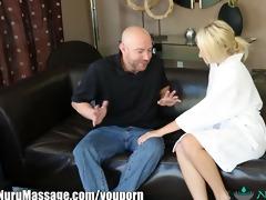 nurumassage horny blonde cuckold massage