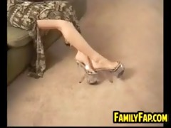 step mother gives a footjob