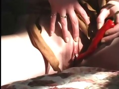 slim pigtailed chick receives stuffed for