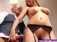blonde euro women anal fun with old dude