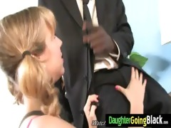 young daughter with worthy butt fucked by a black