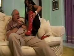 sucking old man cock