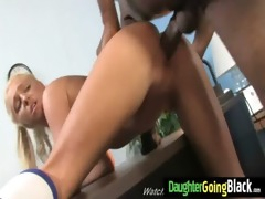 constricted young teen takes big black knob 12