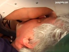 breasty daughter close up oral sex