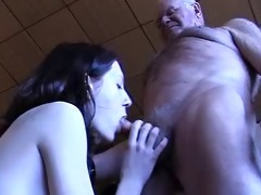 grand-dad acquires a blowjob