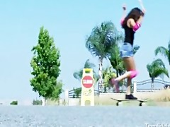 teen skater whore fucks her mature neighbour