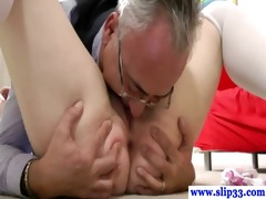 brittish hottie eaten out and screwed