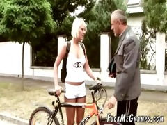 mature guy plays pervert scene with youthful
