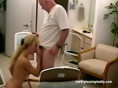 nicole moore sucks off dave cummings old cock